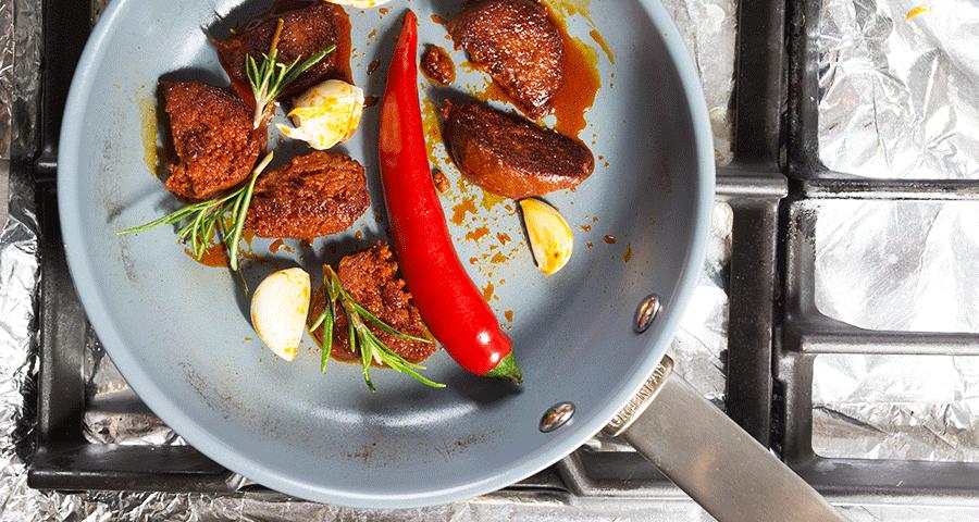 Chorizo-in-der-Pfanne