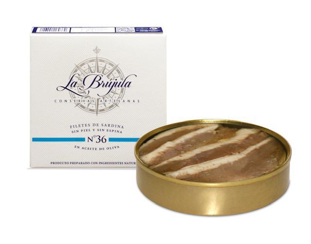 große Sardinen Nr. 36 ohne Haut und Gräten in Olivenöl