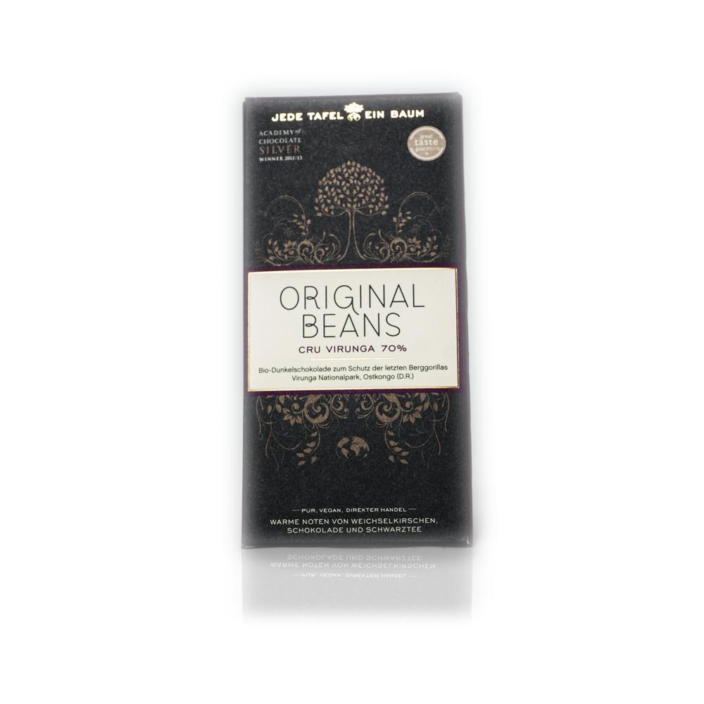 Bio Dunkelschokolade - Original Beans   Feinkostundwein